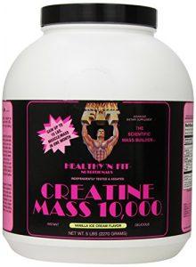 Healthy 'n Fit Creatine Mass 10000 5-pound Bottle Vanilla, Tub