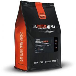 The Protein Works – 100% Caséine Micellaire – Idéale Pour le Coucher – Avec Cuillère et Shaker Gratuits – Chocolat Menthe – 4kg