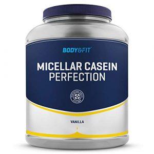BODY & FIT Casein Perfection – Poudre de Caséine Micellaire – Pot de 2KG – Goût: Vanille