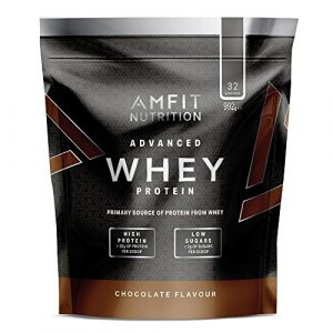 Marque Amazon – Amfit Nutrition Advanced Whey protéine de lactosérum saveur chocolat, 32 portions 990 g