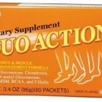 Umeken Duo Action – Contains Glucosamine (99% hydrochloride), chondroitin, MSM, BCAA (essential amino acid), herbs. Supports joint health, arthritic care, inflammation, muscle repair, pain management