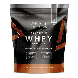 Marque Amazon – Amfit Nutrition Advanced Whey protéine de lactosérum saveur milk-shake à la banane, 32 portions, 990 g