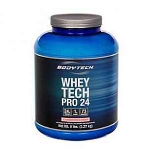 Bodytech – Whey Tech Pro 24 Strawberries & Cream, 5 lb powder by BodyTech