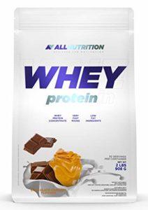 ALLNUTRITION Whey Protein 908g pack de 1 poudre de protéine de lactosérum en poudre renforcement musculaire avec acides aminés ramifiés BCAA (Chocolate Caramel)