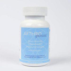 Arthro genial Boîte de 180 comprimés d'acide hyaluronique de glucosamine et chondroïtine 220 g