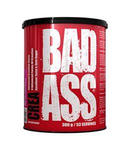 Bad Ass Crea Paquet de 1 x 300g Mélange de Créatine – Monohydratée – Malate – Chélate de Magnésium et Chlorhydrate (Cherry)