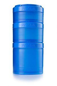 BlenderBottle ProStak Expansion Pak -3 Pak récipients (250ml, 150ml und 100ml) + boîte à pilules -cyan