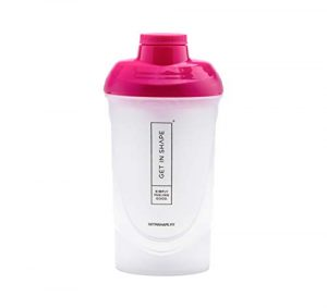 Bouteille Shaker pour le Slim Shake ou Protein Shaker avec filtre – 600 ml – Shaker Bottle par Get in Shape
