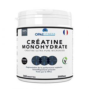 Créatine Complément Alimentaire par Opal Fitness   Comprimés de créatine de monohydrate   Augmentation de la puissance, de la performance explosive et de la masse musculaire maigre