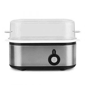 DIDIOI Egg Cooker, Multi-Fonction Egg Cooker Ménage Mini Petit déjeuner Egg Machine de Mise Hors Tension Automatique Anti-Sec chaudière d'oeufs en Acier Inoxydable 220 V