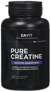 EAFIT Pure Créatine – 90 Gélules – Créatine monohydrate (3 000 mg) – Explosivité – Efforts intenses – Marque Française – Certifiée Anti-dopage