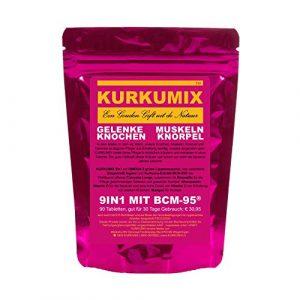 KURKUMA BCM-95 Complément végétal 9 en 1 avec manchon vert à lèvres 2KCL