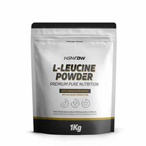 Leucine de HSNraw | Acide Aminé Essentiel Activateur Anabolique pour la Synthèse de Protéines et le Développement Musculaire | Composant des BCAAs | Dissolution optimale, 1Kg