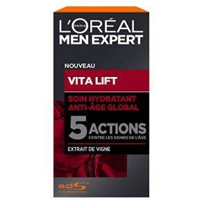 L'Oréal Men Expert – Soin Hydratant Anti-Âge Global pour Homme – Pour Peaux Matures – Vita Lift – 50 ml