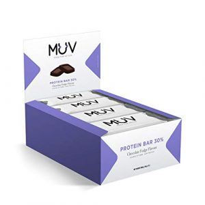 Muv Food For Action – Barres protéinées, goût fudge au chocolat, 12 x 30 g