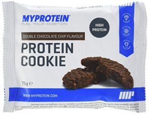 My Protein Protéine Cookie Complément Alimentaire Saveur Double Chocolate Chip 12 x 75 g