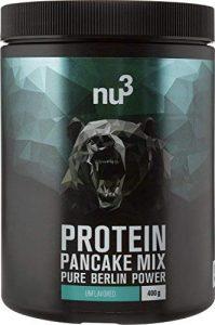 nu3 Protein Pancake Mix 400g – Préparation pour pancakes protéinés pauvres en sucre – 28% de proteines – Idéal pour les sportifs – Alternative aux shakes protéinés pour le petit-déjeuner