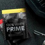 Prozis Sachet 100% Whey Prime 2.0 25 g Crème Brûlée Protéine en Poudre Enrichi en Créatine, en BCAA et en L-Glutamine -Goût Crème Catalane – Augmente la Force, l'Énergie et la Croissance Musculaire