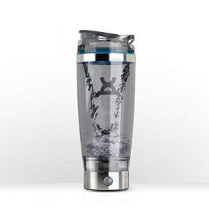 Shaker électrique ProMiXX iX-R mélangeur Vortex 600 ml, sans BPA, comprend un système de stockage supplémentaire NUTRiPOD, un moteur rechargeable amovible et un câble USB