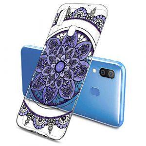 Suhctup Coque Compatible pour Samsung Galaxy A60,Transparent en Silicone TPU Souple Etui,Ultra Fin Anti Choc Housse Couverture Bumper Housse de Protection pour Galaxy A60,Multicolore