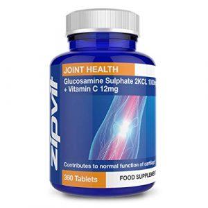 Sulfate de Glucosamine 2KCI 1000mg | 360 Comprimés | Approvisionnement pour 1 An