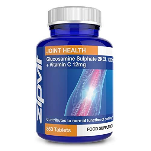 Sulfate de Glucosamine 2KCI 1000mg   360 Comprimés   Approvisionnement pour 1 An
