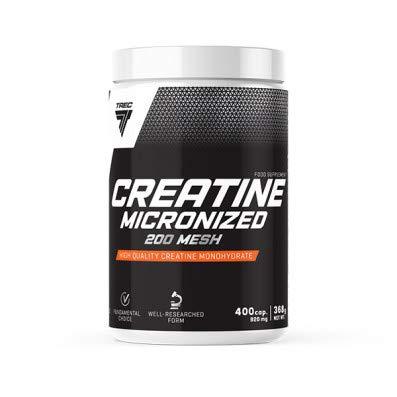Trec Nutrition CREATINE 200MESH+Taurine 400G d'acides aminés Puissance d'énergie M