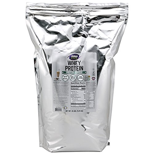 Whey protein – 4.536 kg – Chocolat – Now foods