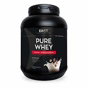 EAFIT Pure Whey – Cappucino 750g – Croissance musculaire – protéines de whey – Assimilation rapide – Acides aminés et des enzymes digestives – Complexe HIGH AMINO – Certifié Anti-dopage