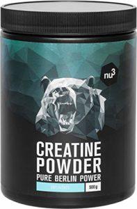 nu3 Créatine en poudre 500g – 100% monohydrate de CREAPURE® – Complément alimentaire pour prise de masse et performance – Booster énergie pour sport intensif – Convient aux vegans – Sans additifs
