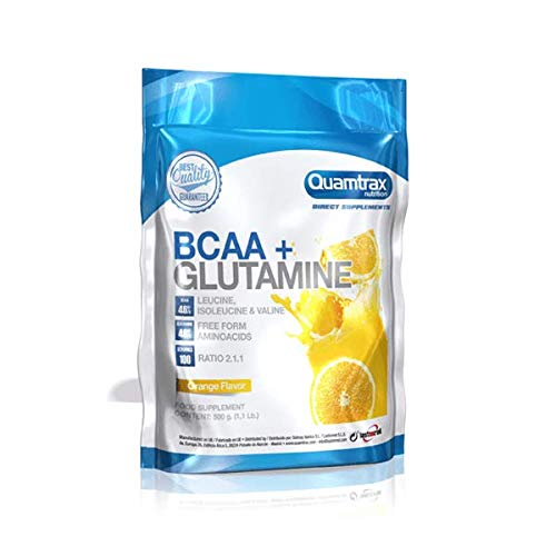 QUAMTRAX BCAA+GLUTAMINE (500 GRS) – ORANGE