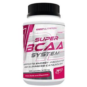 Trec Nutrition Super BCAA System Acides aminés pour croissance et régénération des muscles maigres 300 capsules