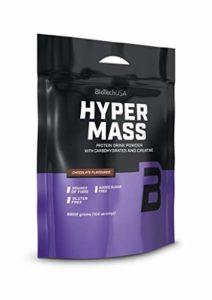 BioTech USA Hyper Mass Paquet de 1 x 6800g Gainer Gagnant de Mass Les Glucides Maltodextrine Concentré et Isolat de Protéines de Lactosérum Créatine Monohydratée (Vanilla)