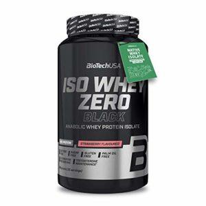 Biotech USA Iso Whey Zero Black, 908 g Dose (Erdbeere)