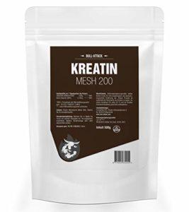 CRÉATINE TOTALE (500g = 100 portions) | Poudre de créatine en Micro Mesh de haute qualité 200 | Avec fenugrec | Poudre de créatine pour soutenir la musculation et le culturisme