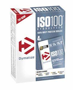 Dymatize Dymatize ISO 100 12er Packs Multiflavour Boîte Hydrolysat de Protéines de Whey + Poudre d'Isolat