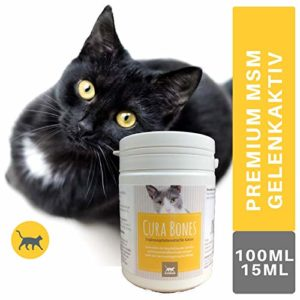 Emma ® MSM & Glucosamine I Joint Powder with Sulphur Methylsulfonylmethane I Supplementary Food for Cats I for Joints I Can 150g