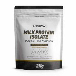 HSN Milk Protein Isolate – Grass Fed – 80% Casein 20% Whey | Vegetarian, Powder, No Flavor, 2Kg