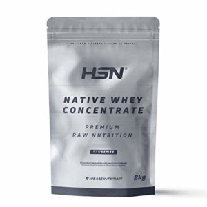 HSN Native Whey Protein | Native Whey Concentrate | From Grass-fed Cows | Highest Quality Raw Material | Vegetarian, Gluten Free, Soy Free, Flavor Free, 2kg.