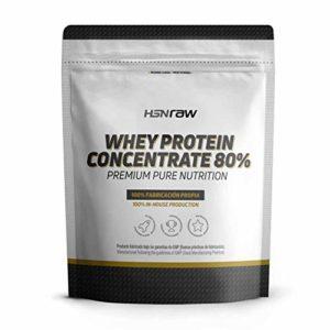 HSN Whey Protein Concentrate | Whey Protein Concentrate 80% | Protéines neutres | Convient au régime végétarien | Sans gluten, sans soja | Pour gagner de la masse musculaire | 4Kg