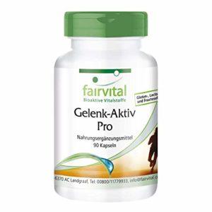 Pro Active Joint – 1 mois – dosage élevé – 90 capsules – avec de la glucosamine, chondroïtine, MSM et plus