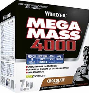 WEIDER Mega Mass 4000, Chocolat Milkshake Gainer avec de la Créatine et de la Protéine, Bodybuilding/Fitness