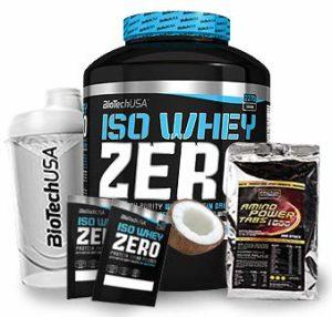 Biotech USA Iso Whey Zero 1 x 2,27 kg + shaker + 200 tablettes aminées 1600 mg + échantillons de coco
