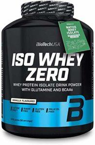 Biotech USA Iso Whey Zero (1 x 2.27 kg) + Shaker gratuits + Échantillons gratuits + Acides aminés (Vanille)