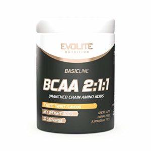 Evolite Nutrition BCAA 2:1:1 Paquet de 1 x 400g Acides Aminés à Chaîne Ramifiée Leucine Isoleucine et Valine Régénération Musculaire (Exotic Twist)