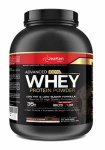 JeaKen – WHEY PROTÉINE ISOLATE CHOCOLAT – Proteines Musculation Prise de Masse – Complement Alimentaire pour Grossir – Pré-entraînement, récupération musculaire- 64 Portions de 35g – 2,25 kg