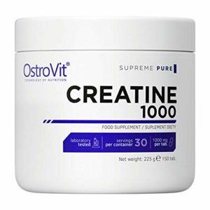 Ostrovit Creatine Monohydrate 150 Comprimés – Supplément anabolisant – Croissance et développement de la masse musculaire maigre