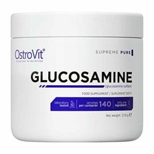 OstroVit Glucosamine -140 PORTIONS! | Pure | Complément alimentaire | Sans saveur | Os solides et santé des articulations | Poudre de récupération
