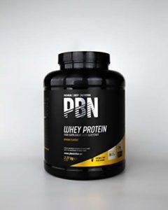 PBN – Protéines de lactosérum (whey) en poudre, 2,27kg, Goût banane