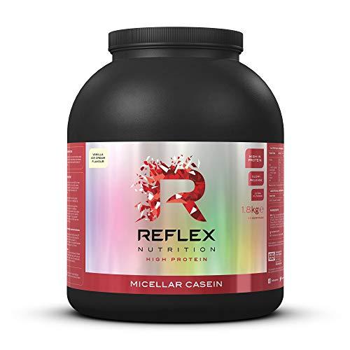 Reflex Nutrition Micellar Casein Shake Protéiné en Poudre à Libération Lente – 1,8 kg – Vanille